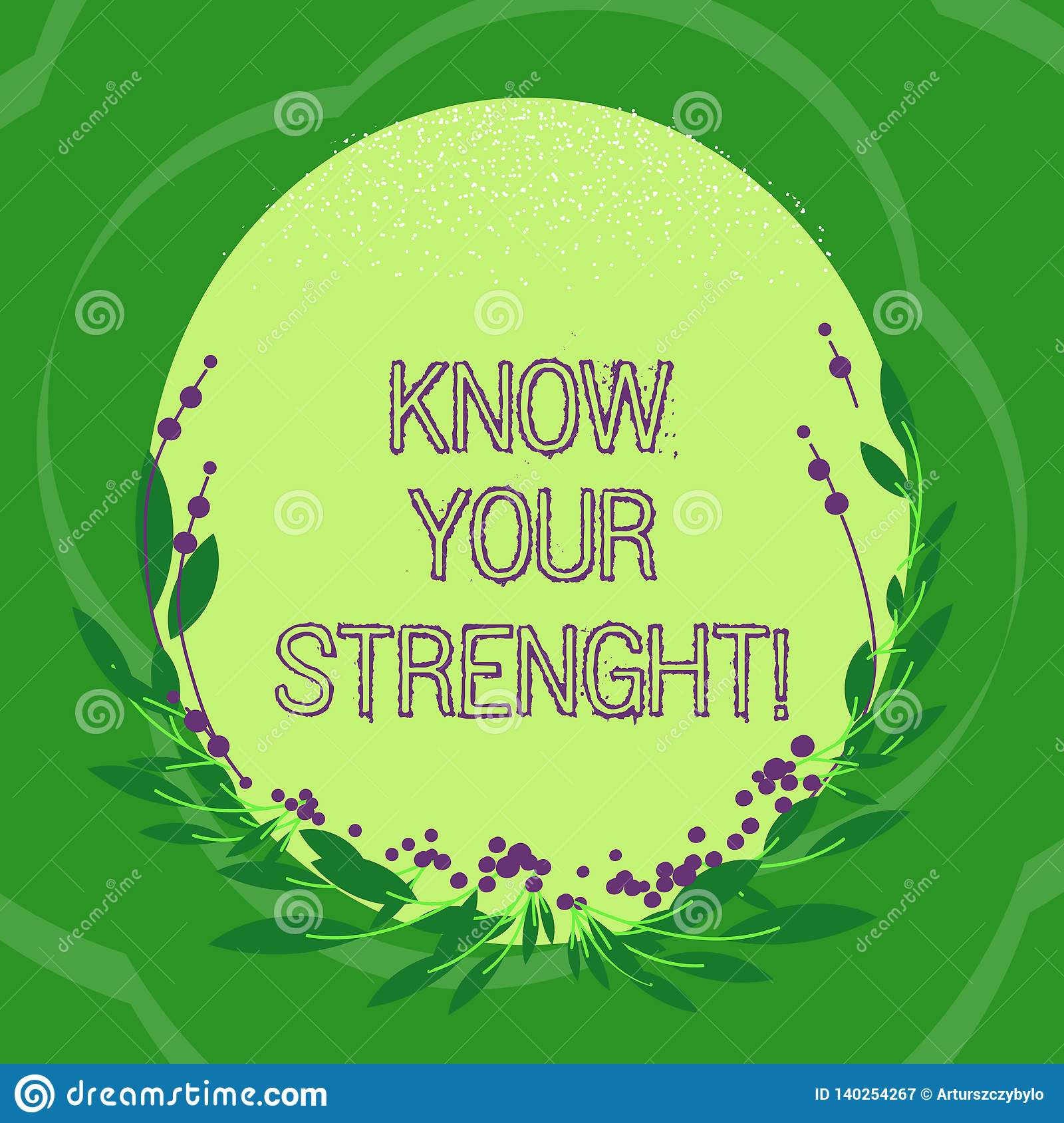 Handwriting Text Know Your Strength Concept Meaning