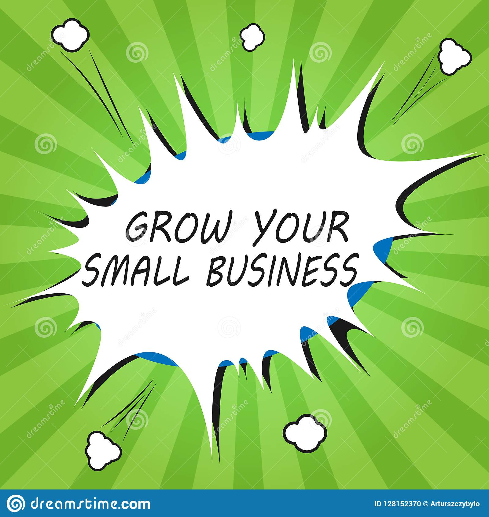 Handwriting Text Writing Grow Your Small Business Concept