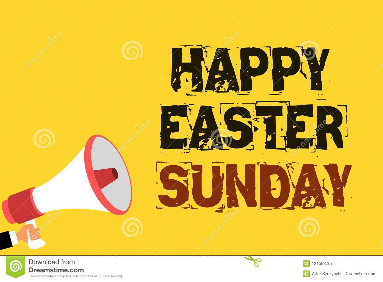 Handwriting Text Writing Happy Easter Sunday Concept
