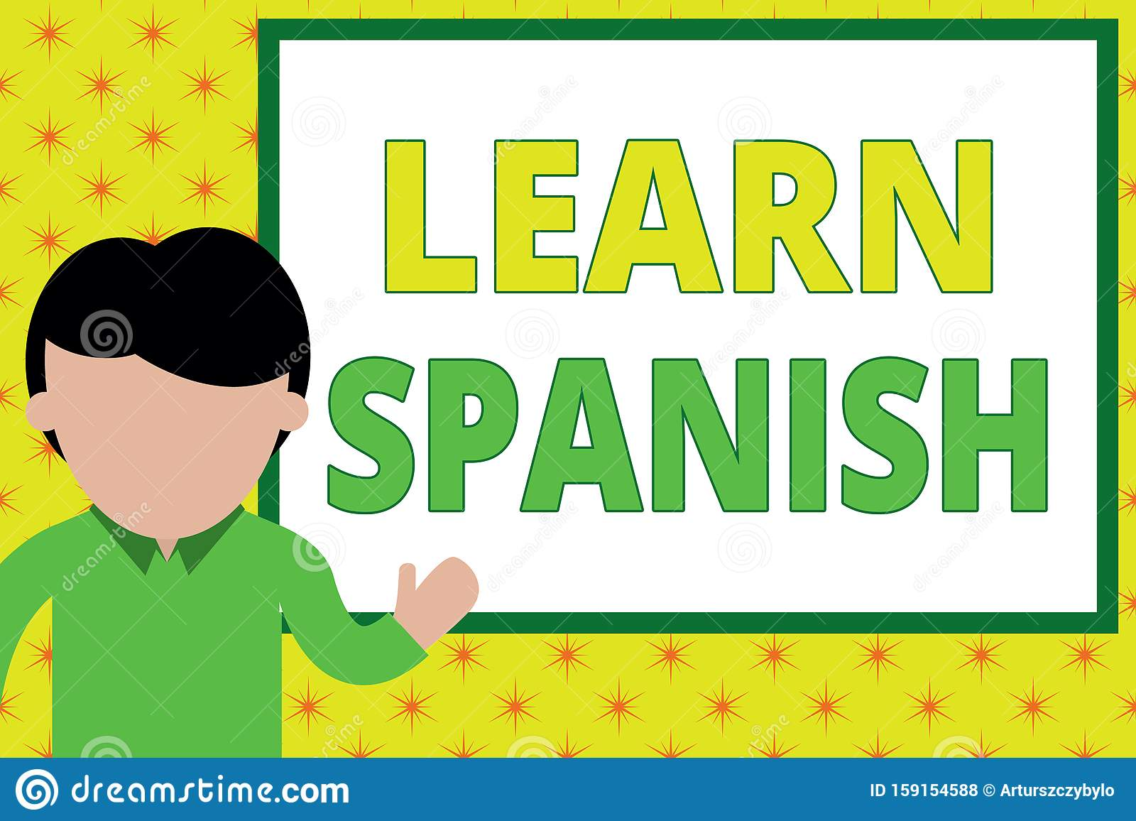 Handwriting Text Writing Learn Spanish Concept Meaning