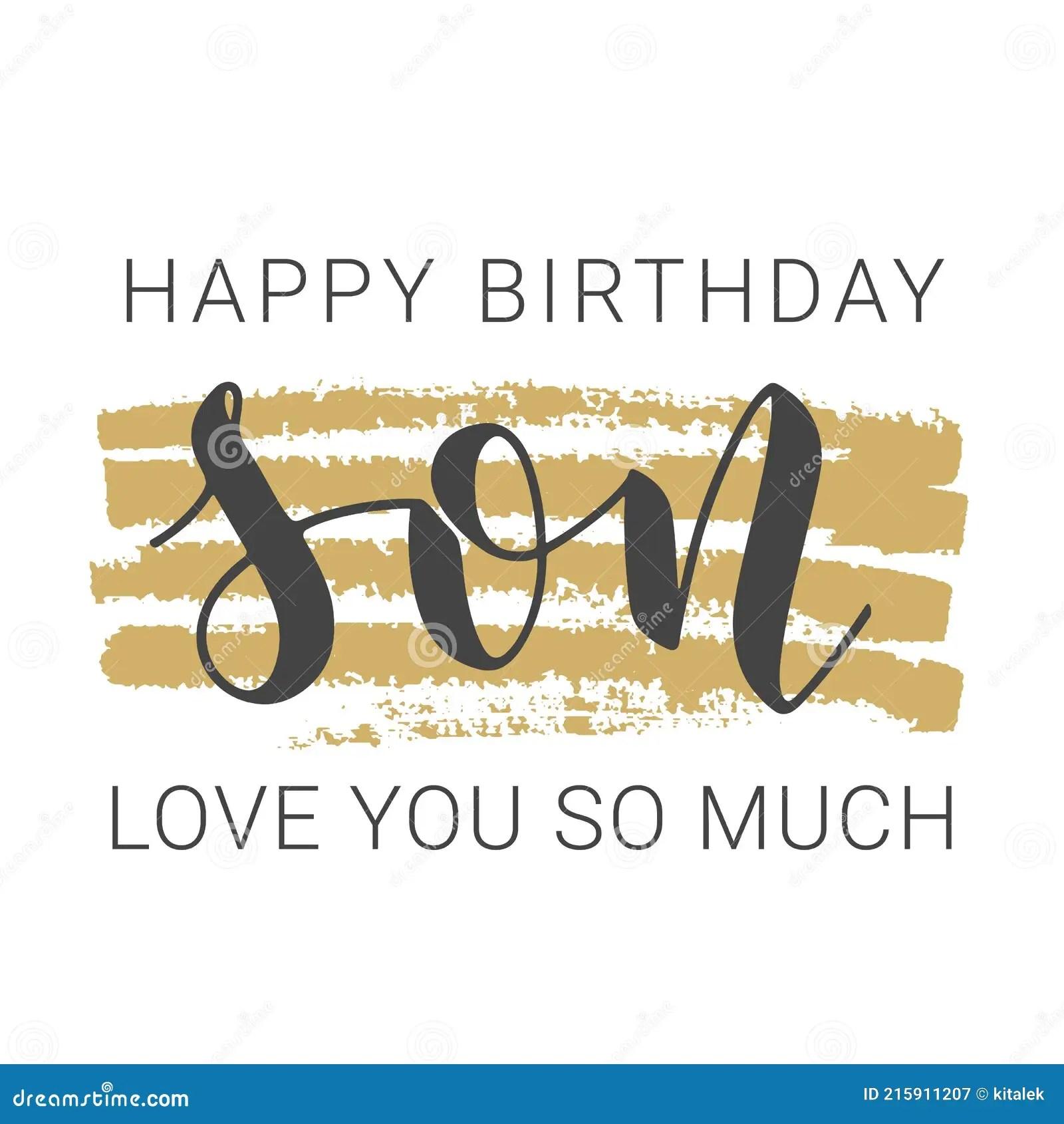 Happy Birthday Son Stock Illustrations 4 407 Happy Birthday Son Stock Illustrations Vectors Clipart Dreamstime