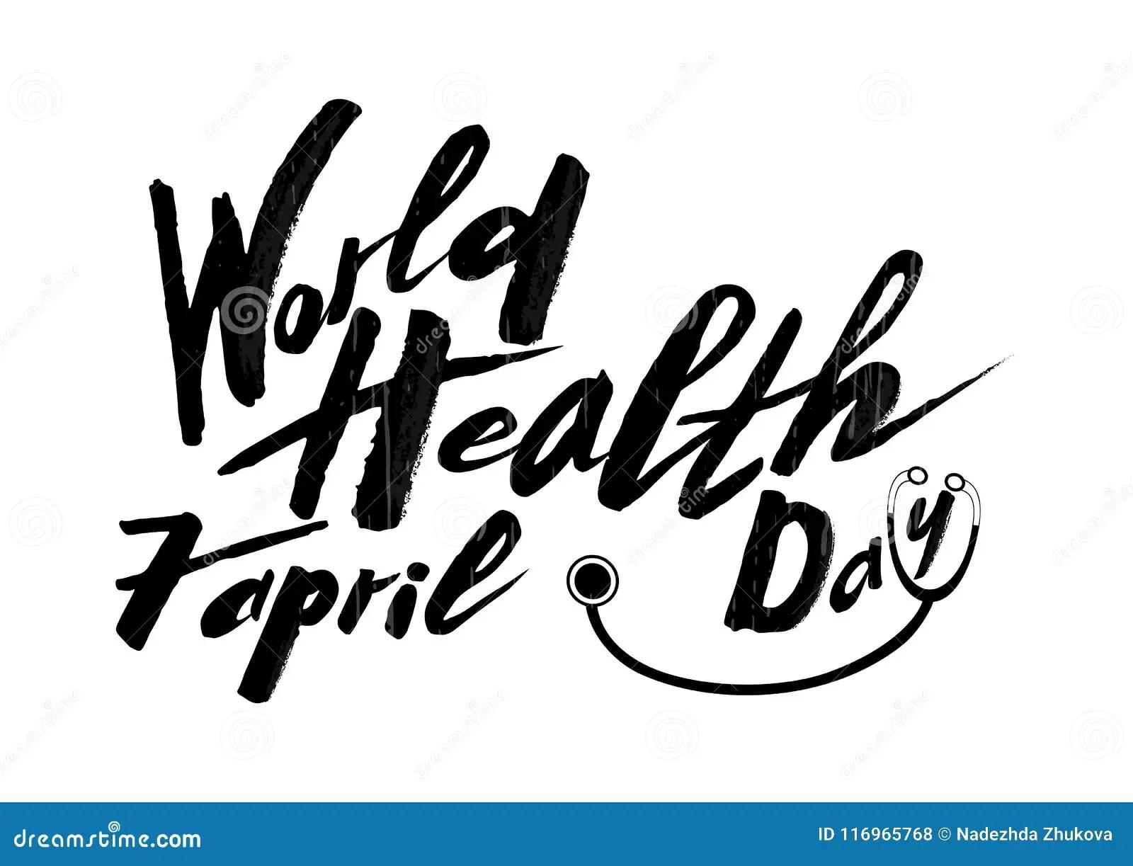 Handwritten Text Of World Health Day On A Textured Pink