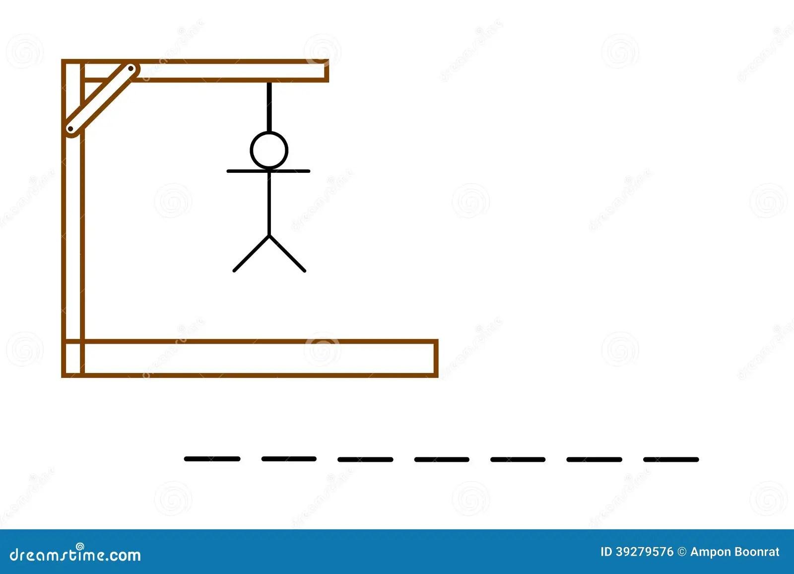 Hangman Game On White Background Stock Illustration