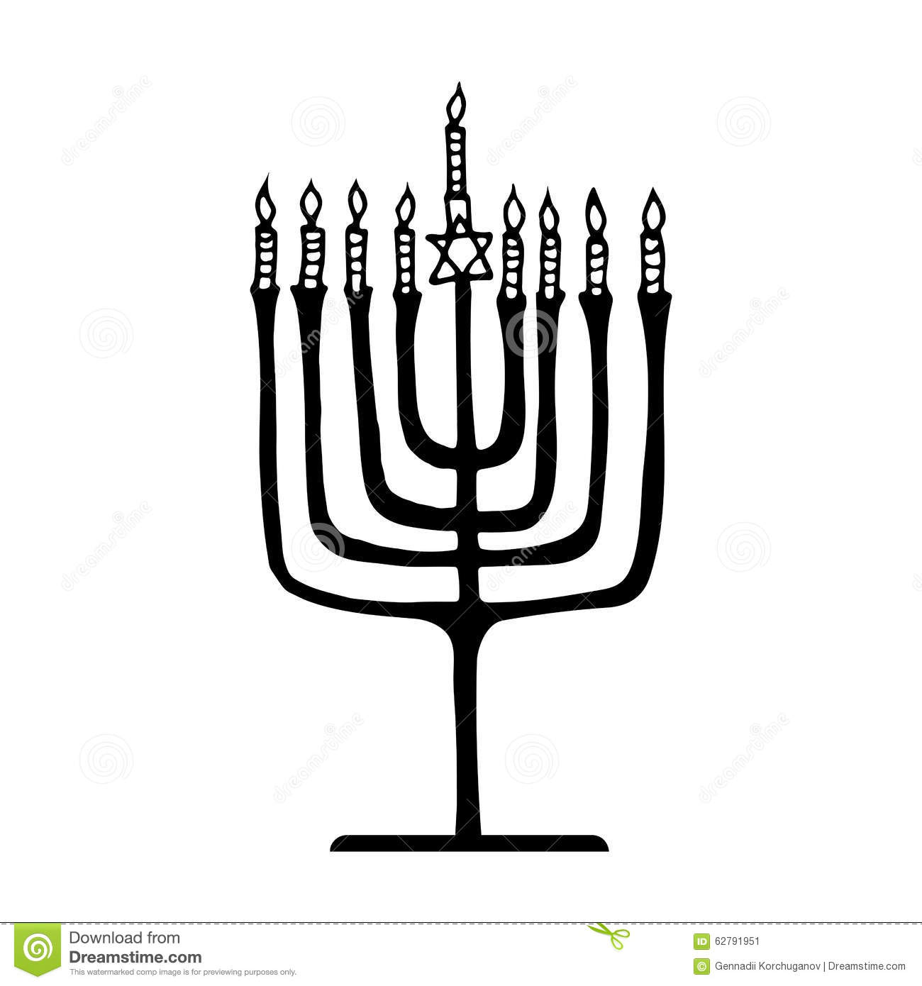 Hanukkah Menorah Stock Vector