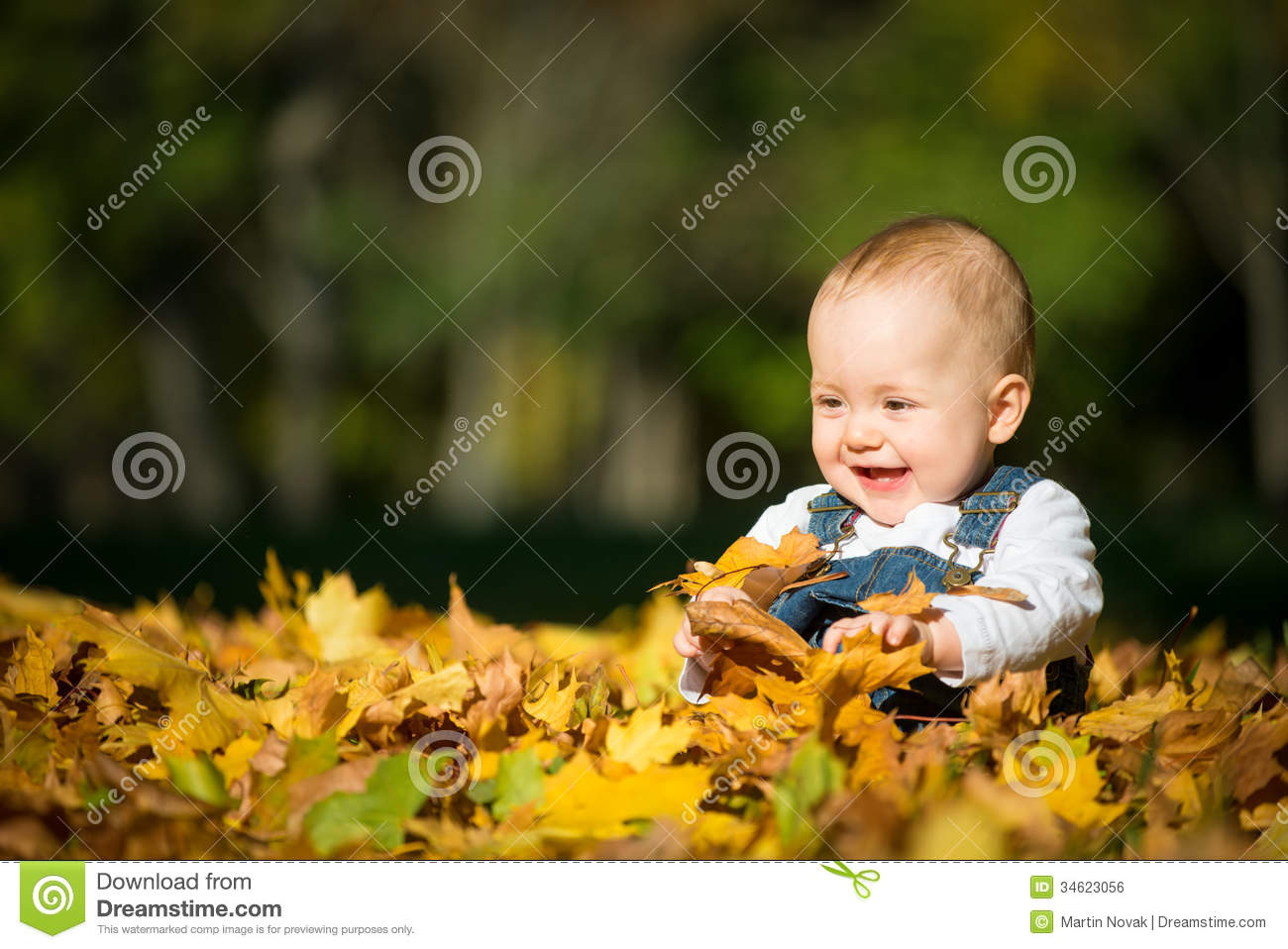 Happiness Baby In Nature Royalty Free Stock Image