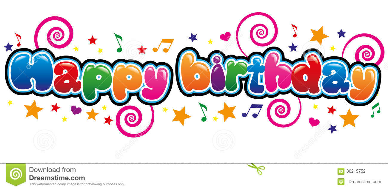 Happy Birthday Stock Vector Illustration Of Font Colors 86215752