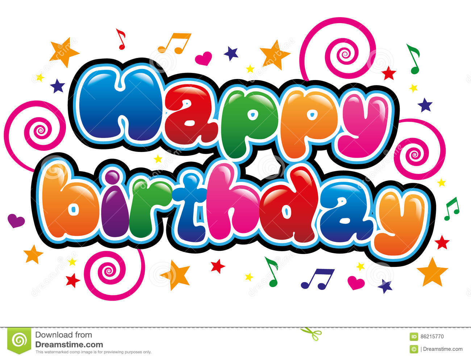 Happy Birthday Stock Vector Illustration Of Font Text 86215770