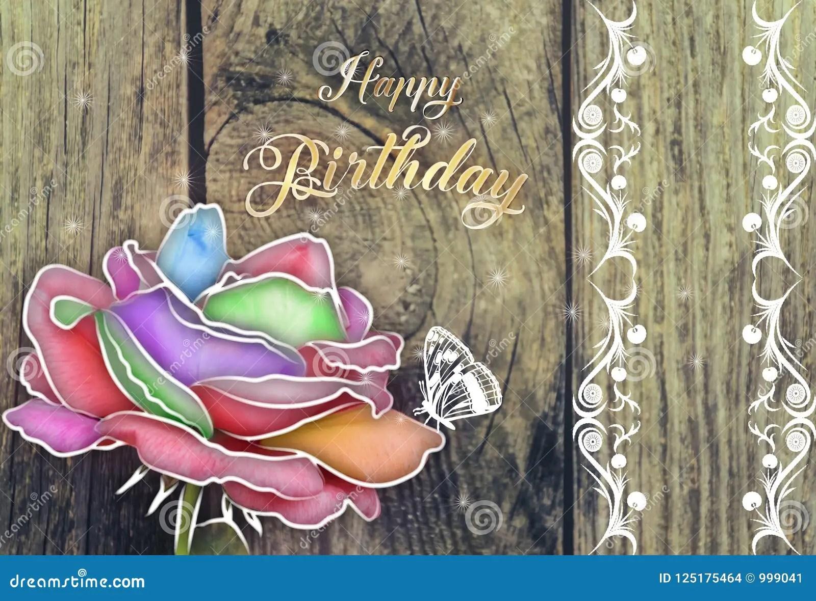 Happy Birthday Card Stock Illustration Illustration Of Beautiful 125175464
