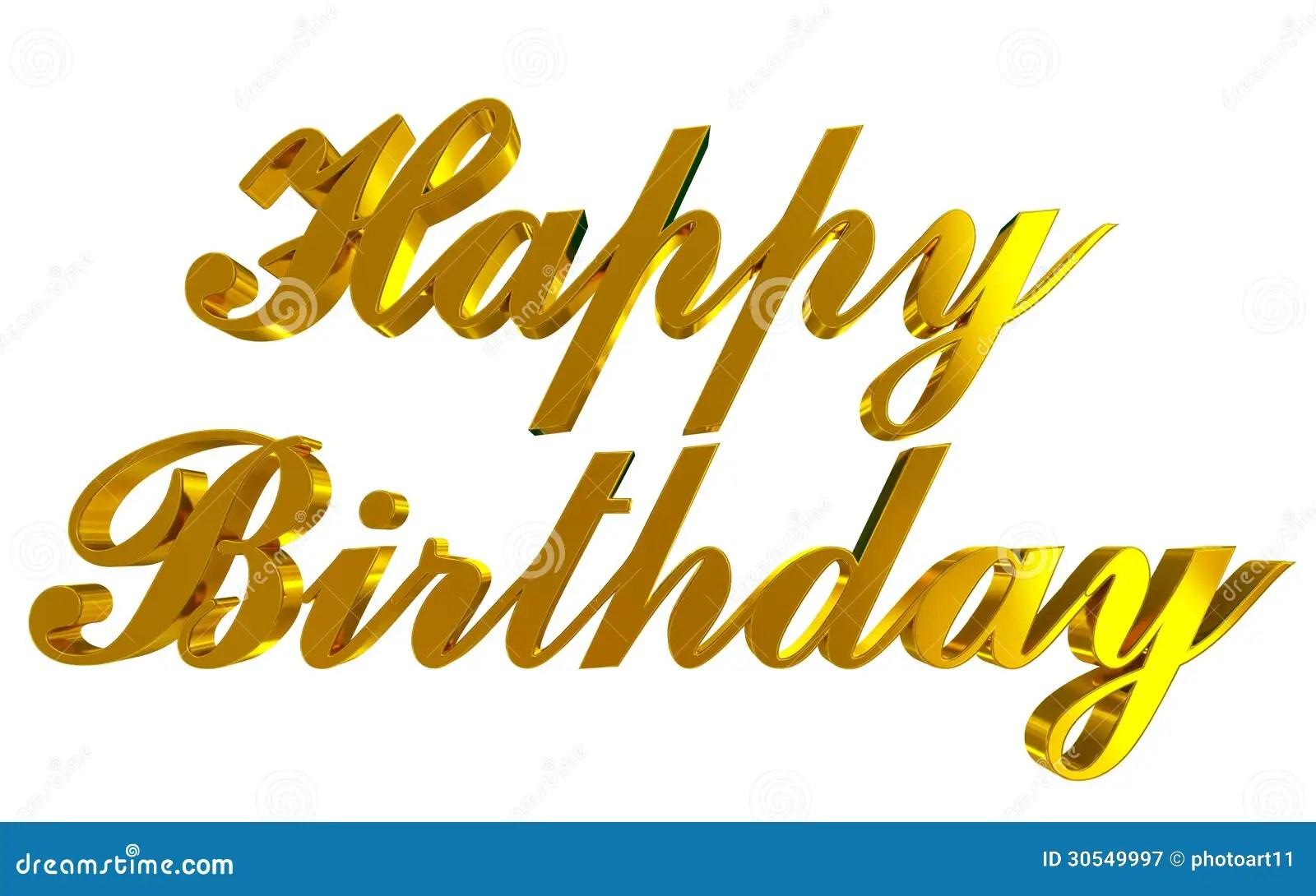 Happy Birthday Stock Illustration Illustration Of Positive 30549997