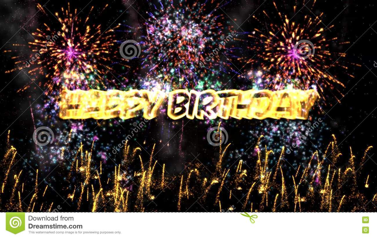 Happy Birthday Fireworks In The Night Sky Animation Background Stock Video Video Of Beautiful Friends 82217881