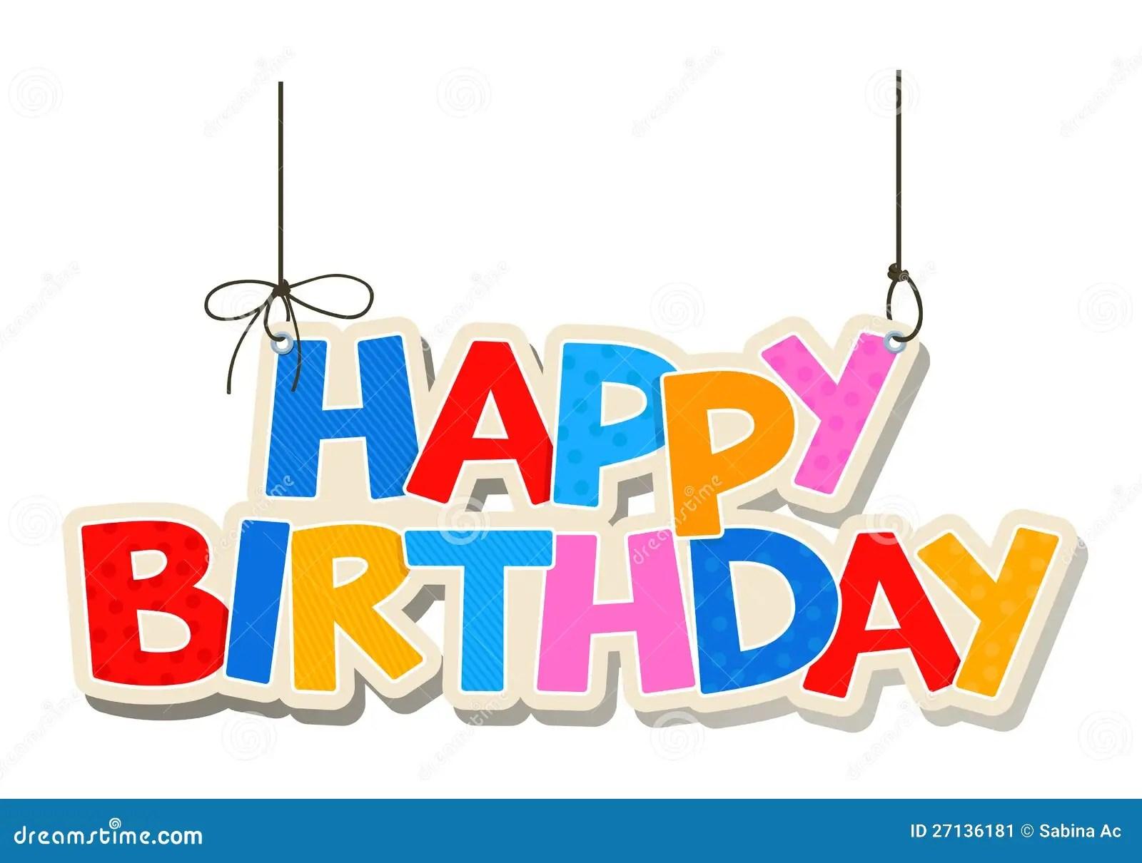 Happy Birthday Greetings Stock Vector Illustration Of Vector 27136181