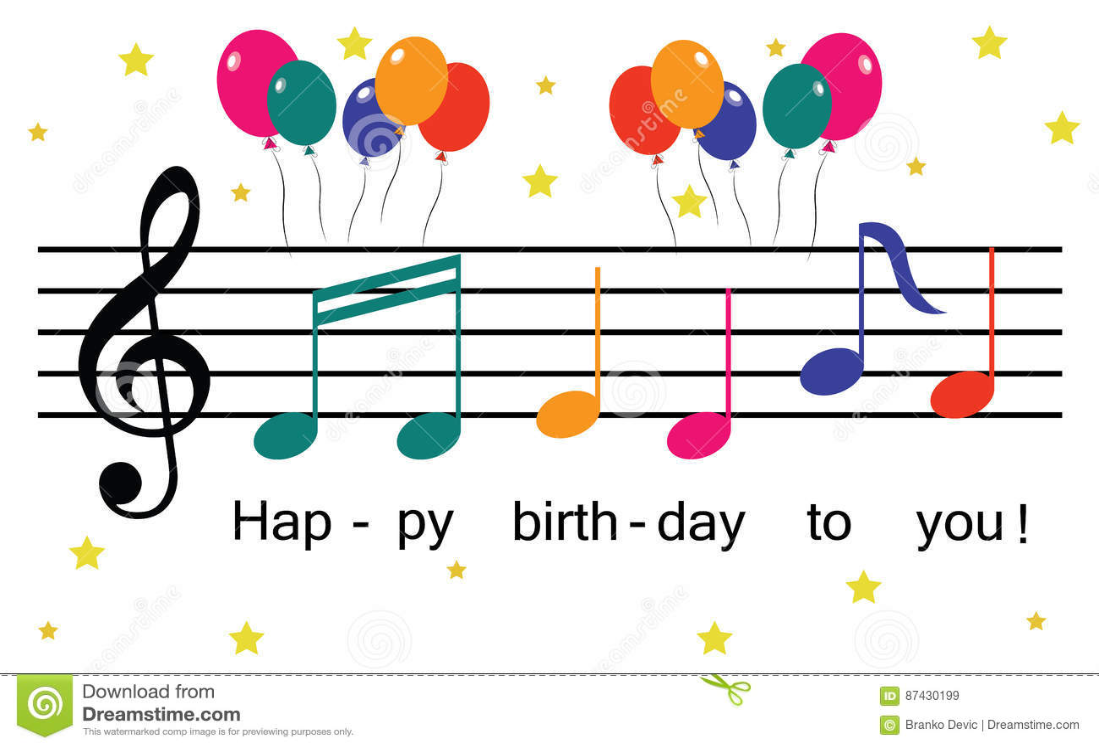 Happy Birthday Stock Vector Illustration Of Balloons 87430199
