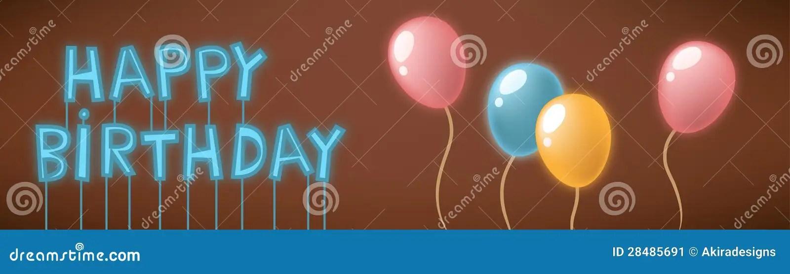 Happy Birthday Neon Sign Card Stock Image Image 28485691