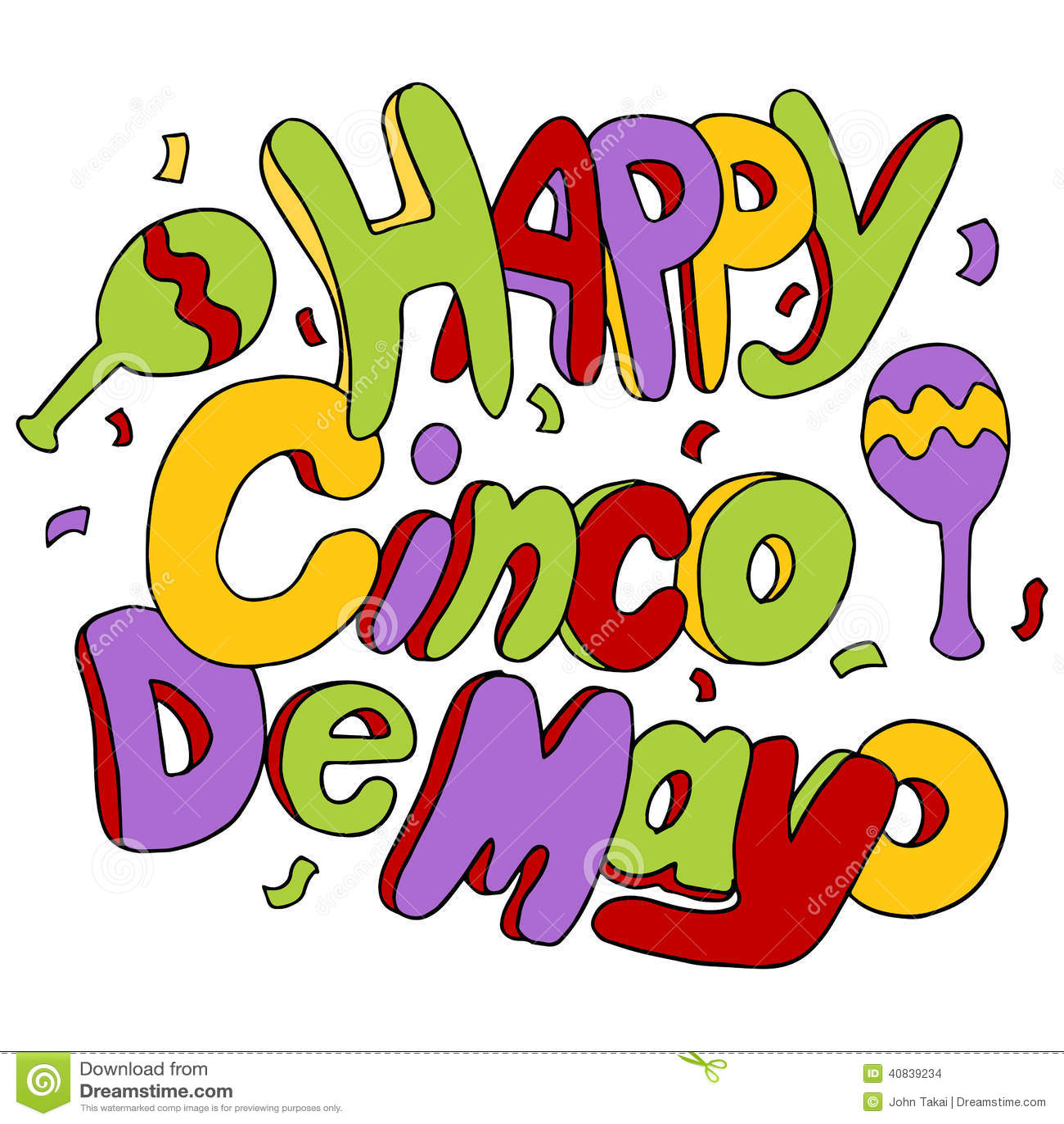 Happy Cinco De Mayo Stock Vector