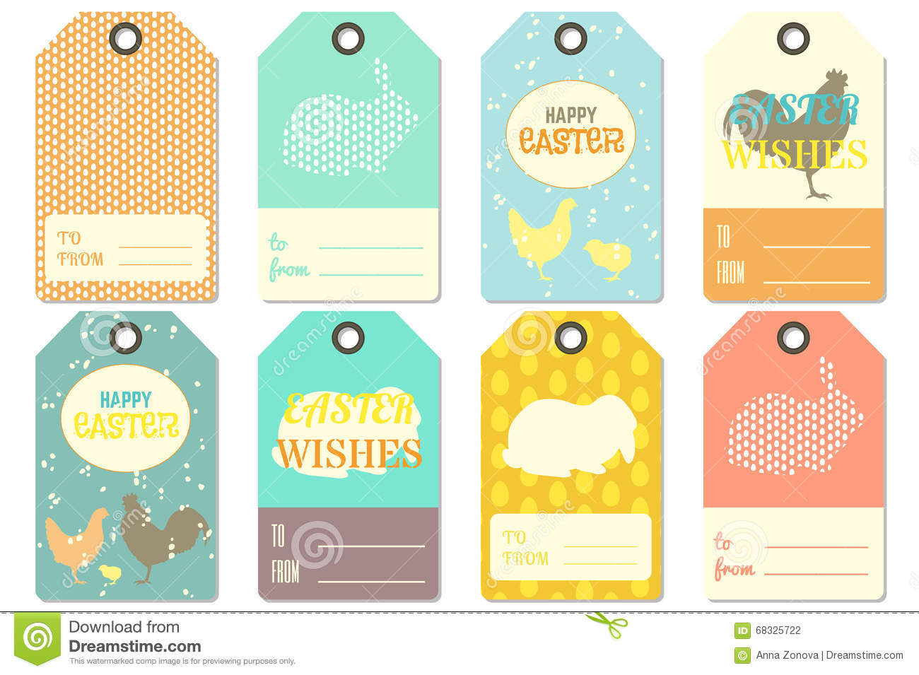 Happy Easter T Tags Stock Vector Illustration Of Design