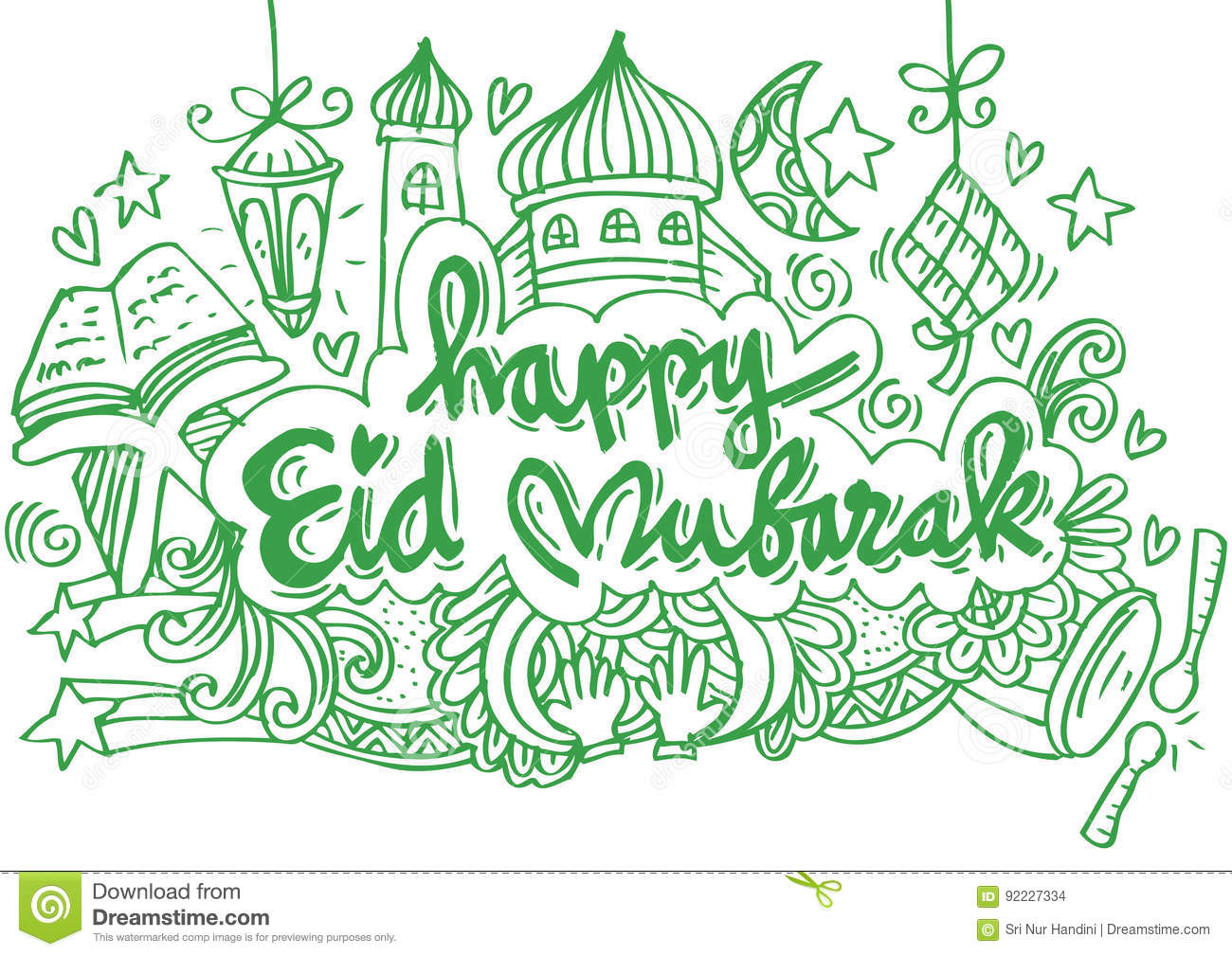 Happy Eid Mubarak Stock Illustration Illustration Of Idul