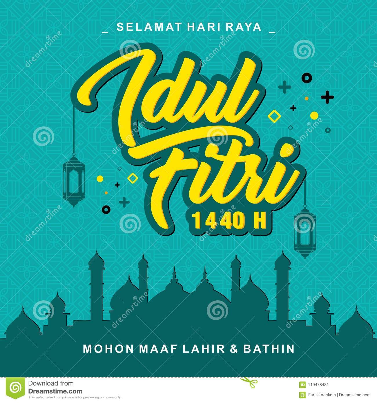 Idul Fitri 1440 H Vector