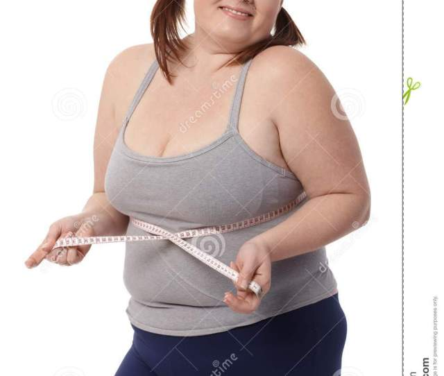 Happy Fat Woman With Tape Measure