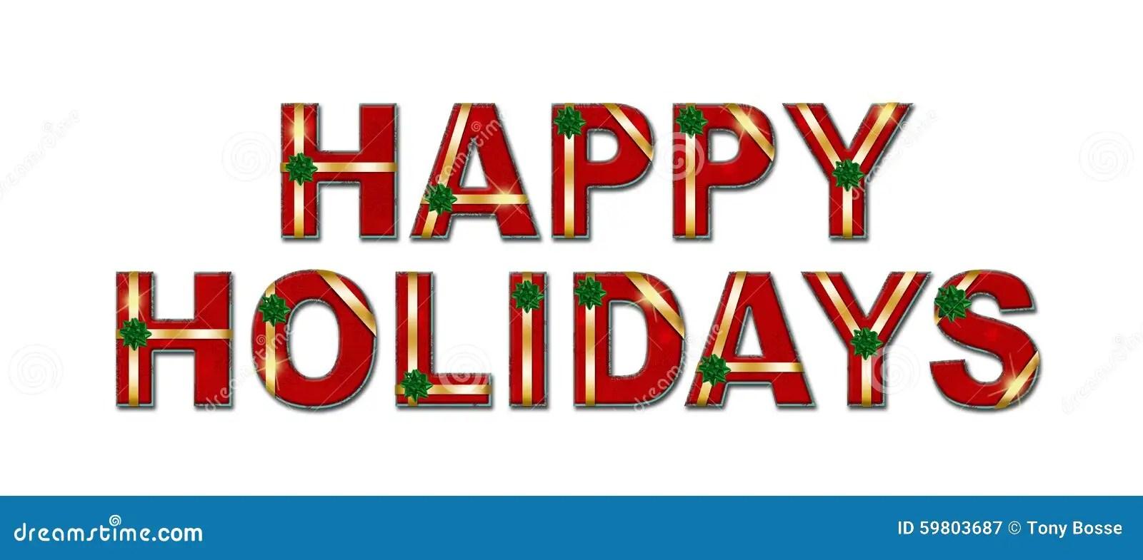 Happy Holidays Gift Text Background Stock Illustration