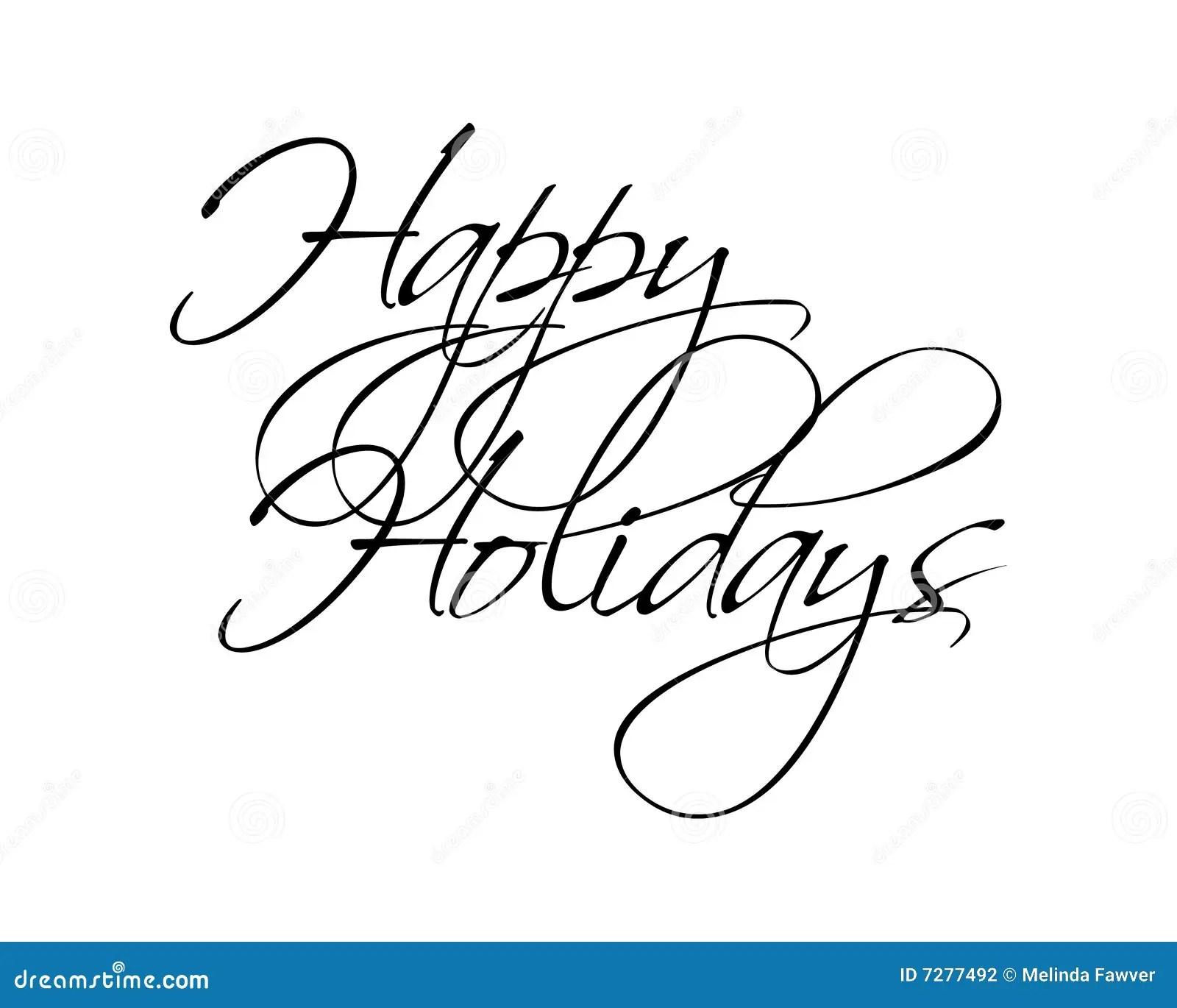 Happy Holidays Type Stock Vector Illustration Of Script