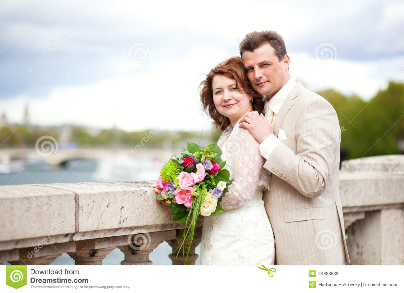 Happy Just Married Couple Royalty Free Stock Photos