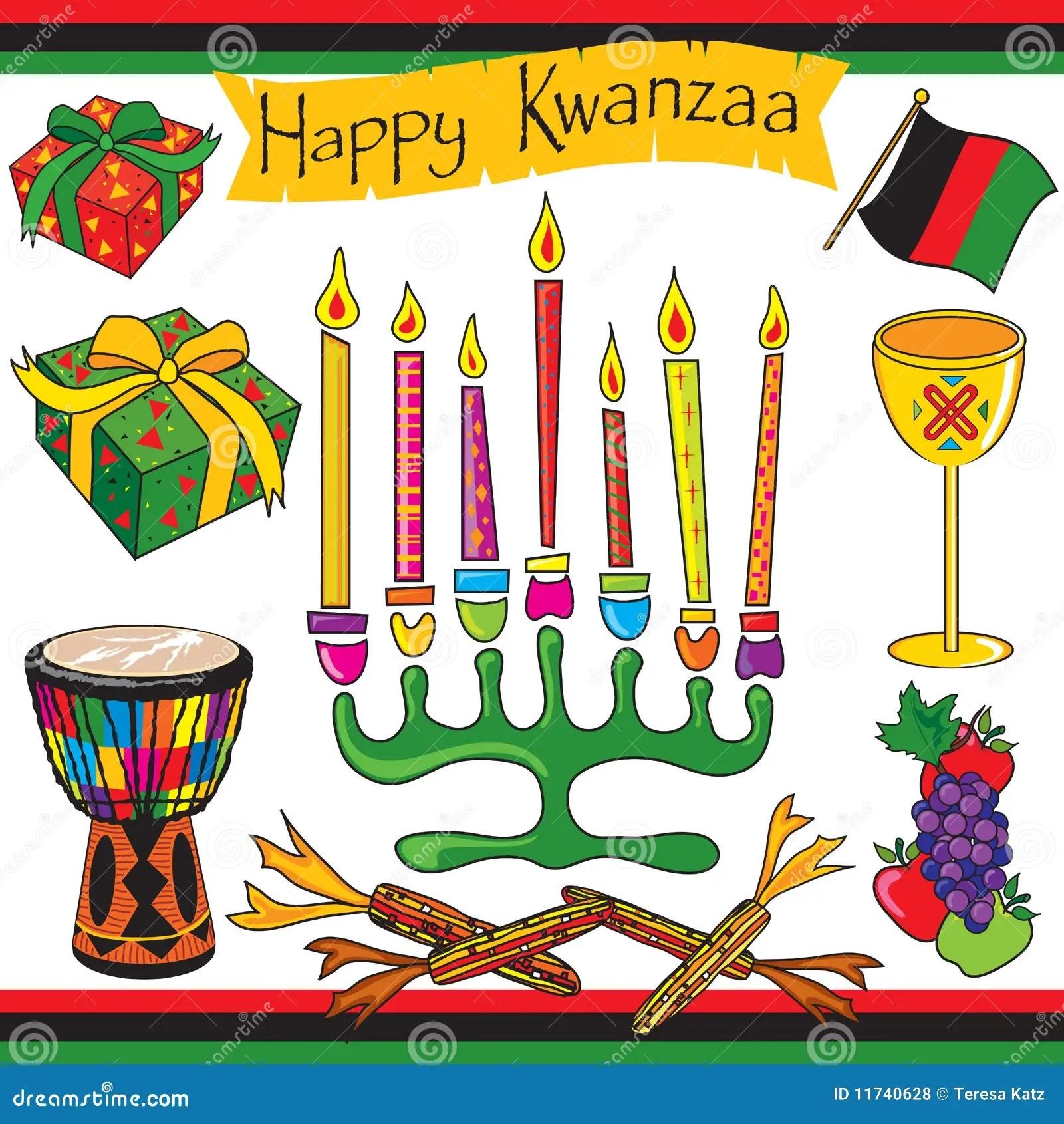 Happy Kwanzaa Clip Art And Icons Stock Vector