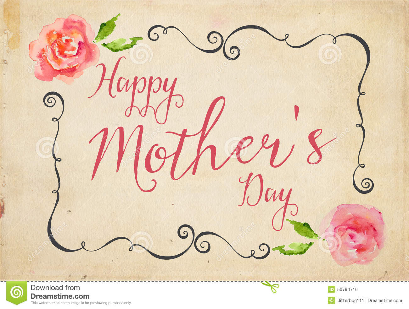 Happy Mother S Day Stock Illustration Illustration Of
