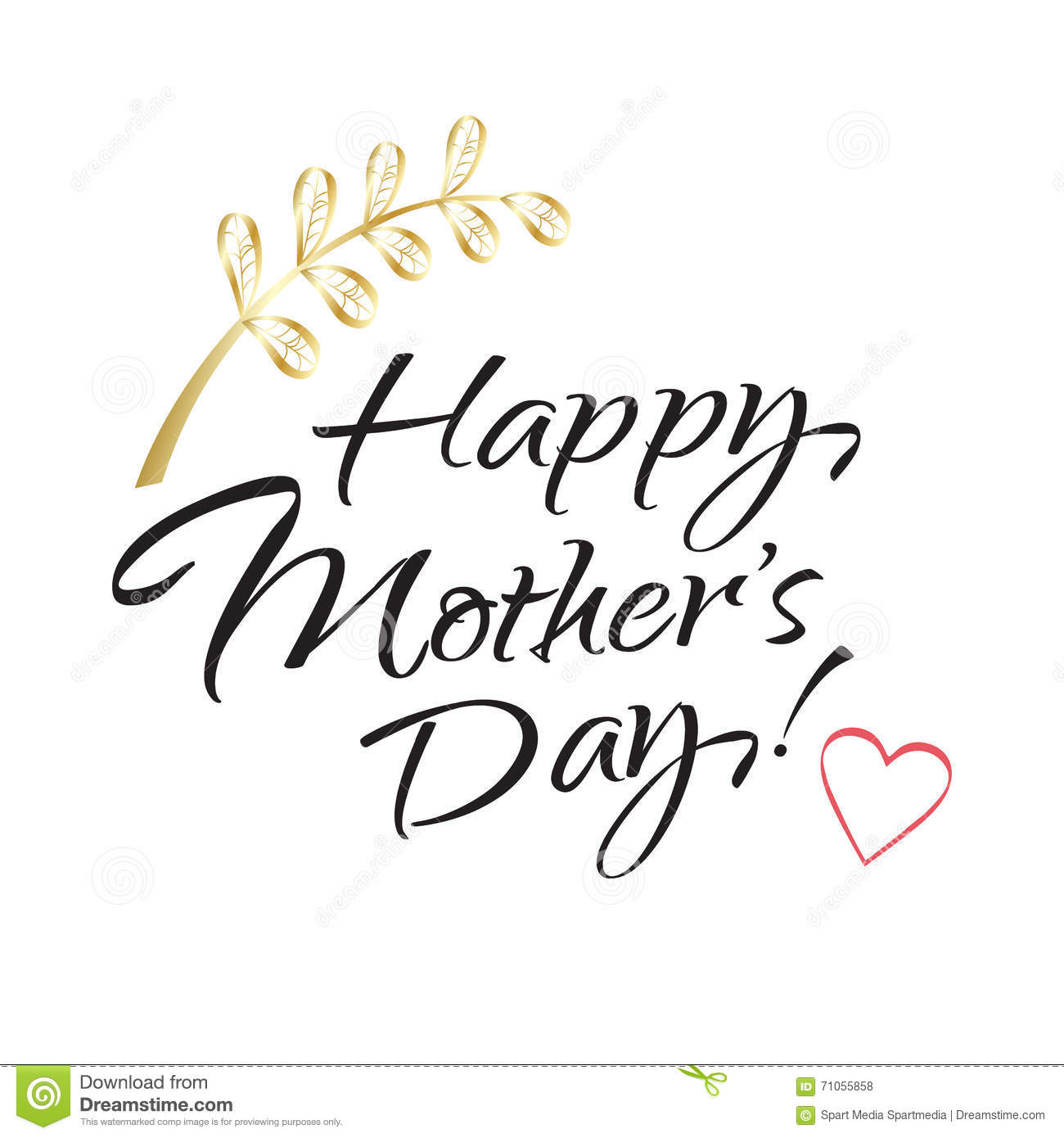 Happy Mothers Day Lettering Stock Vector