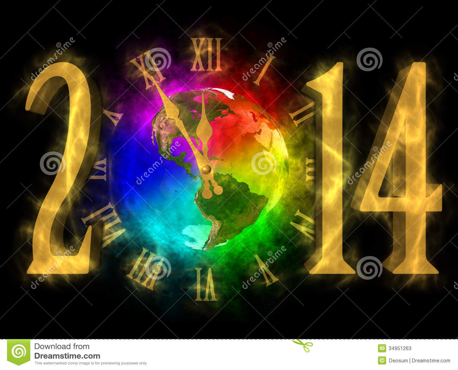 Happy New Year 2014 America Stock Photos Image 34951263