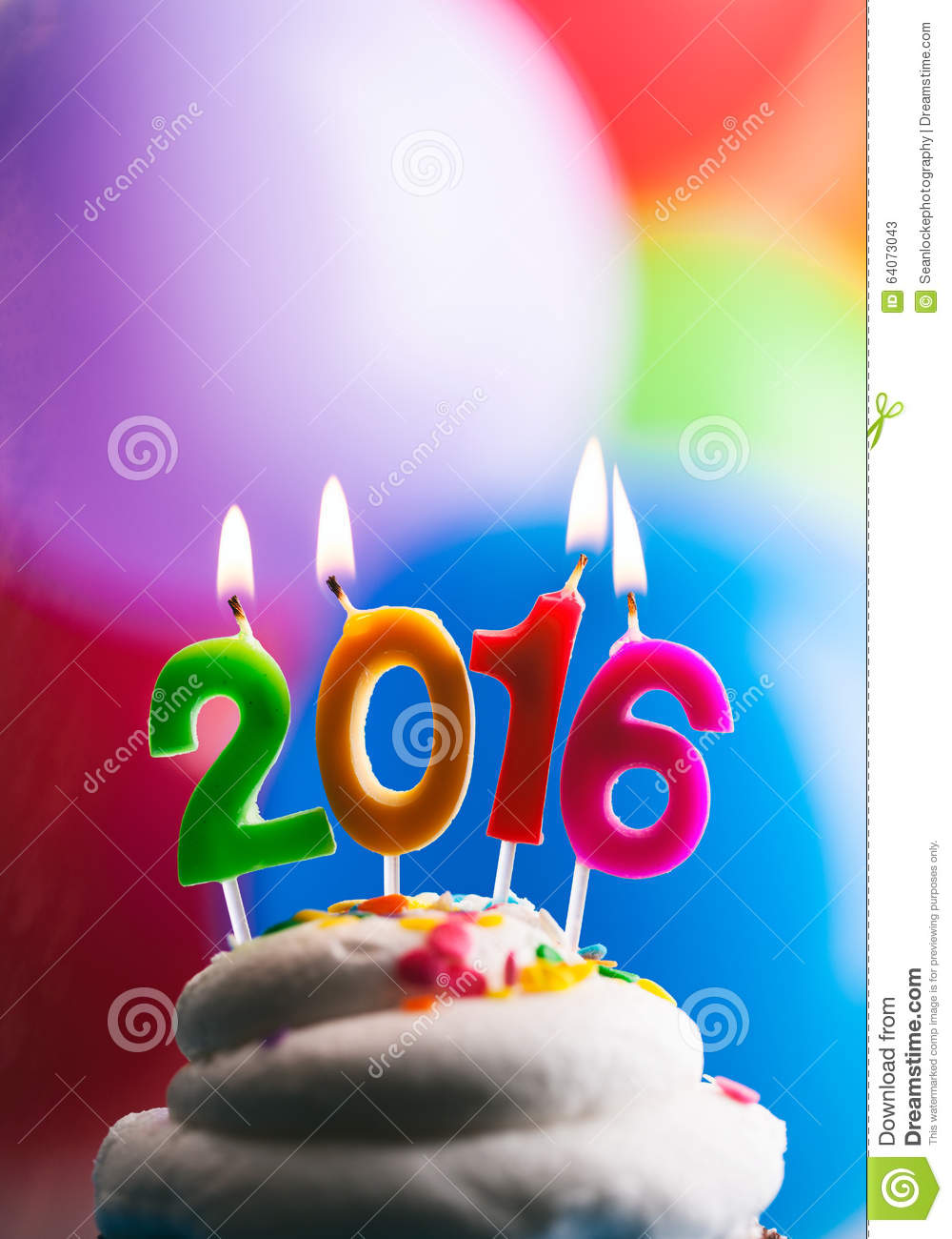Happy New Year 2016 Birthday Candles On Cake Stock Image   Image of     Download Happy New Year 2016 Birthday Candles On Cake Stock Image   Image  of balloon