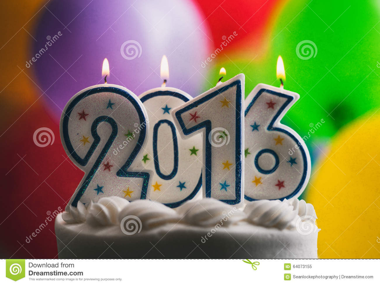 Happy New Year 2016 Birthday Candles On Cake Stock Image   Image of     Download Happy New Year 2016 Birthday Candles On Cake Stock Image   Image  of celebrate