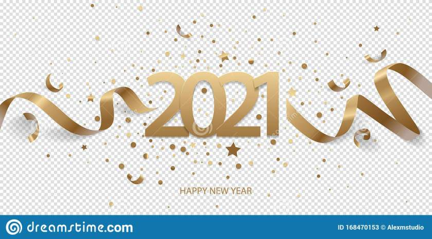 happy new year 21 stock vector. illustration of card