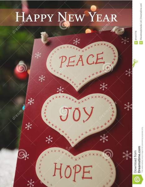 Happy New Year Wishes With Message Of Peace  Joy And Hope Stock     Download Happy New Year Wishes With Message Of Peace  Joy And Hope Stock  Photo