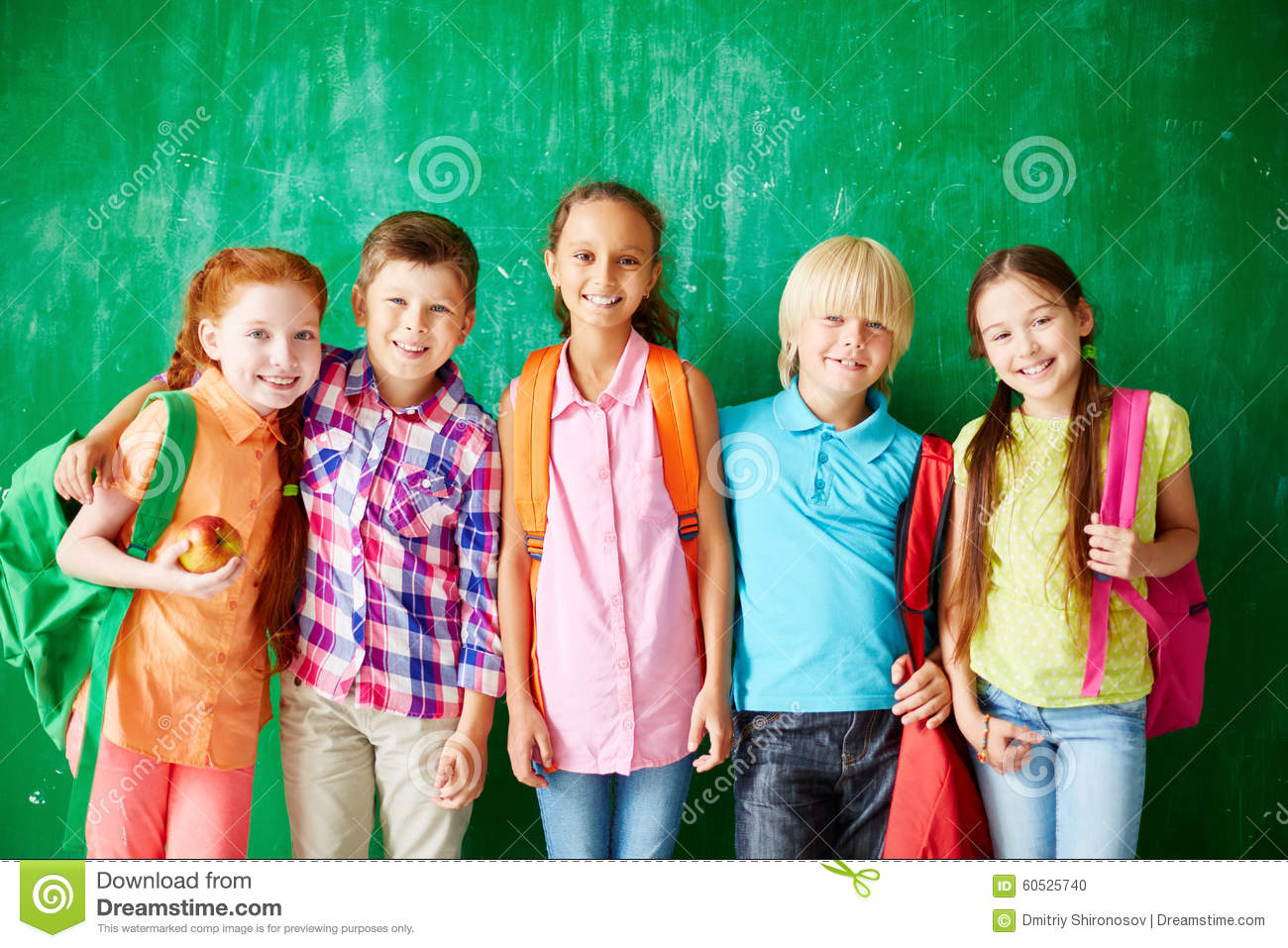 Happy School Friends Stock Photo Image Of Schoolchildren