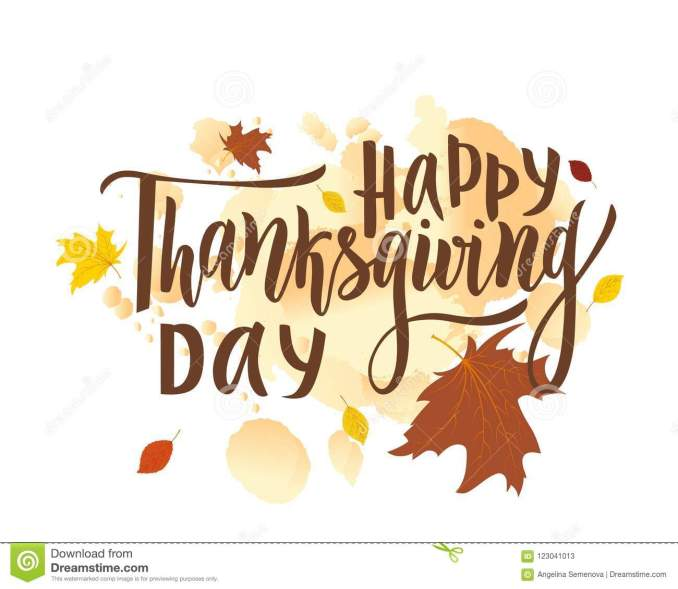 Happy Thanksgiving Day Greeting Lettering Phrase. Modern Calligraphy Stock  Vector - Illustration of greeting, season: 123041013