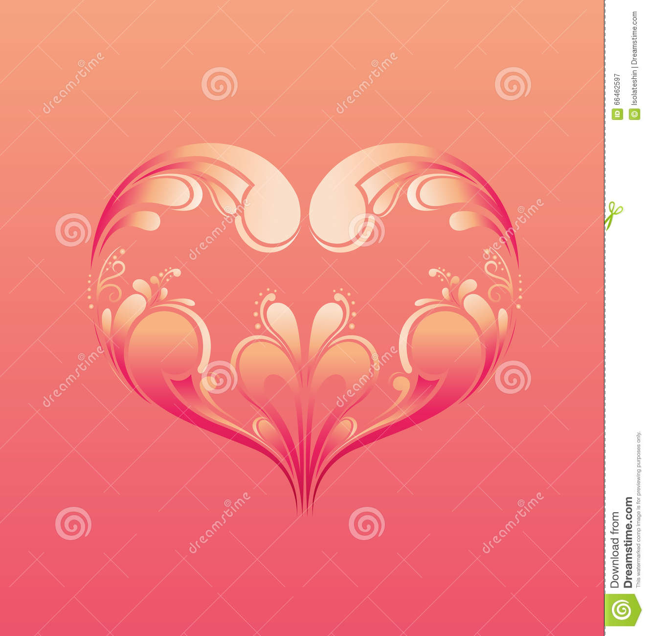 Happy Valentine S Day Greeting Card With Ornamental Heart