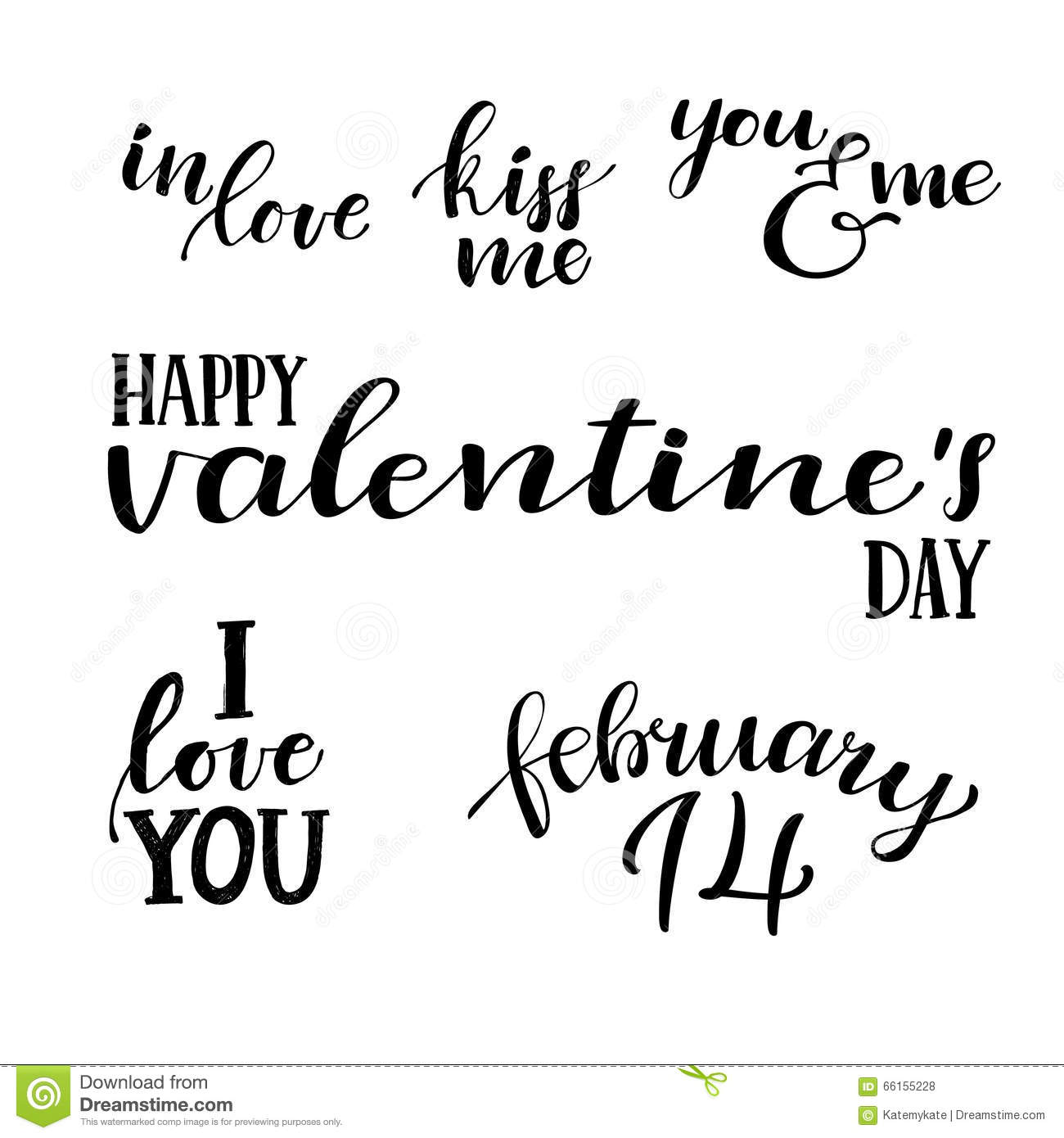 Happy Valentine S Day Hand Lettering Vintage Quotes