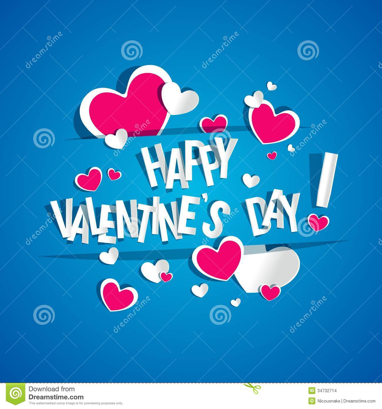 Happy Valentines Day Card Stock Images Image 34732714