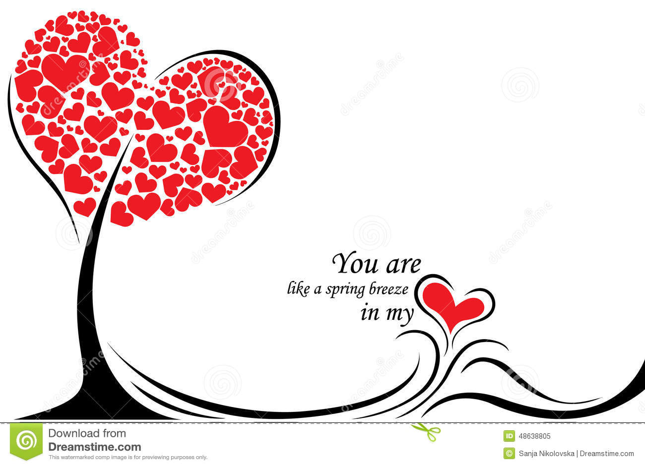 Happy Valentines Day Gift Card Stock Vector Image 48638805