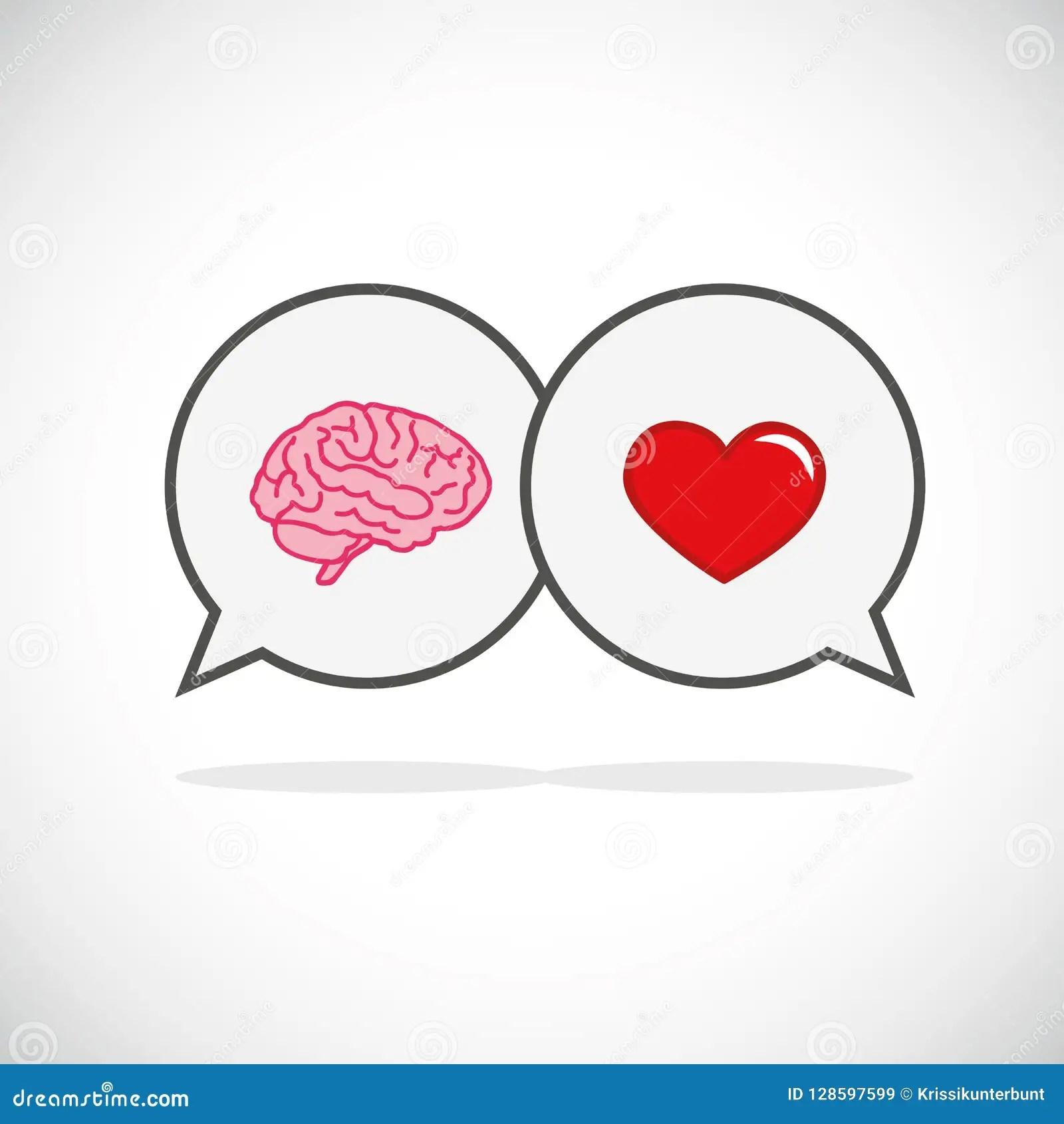 Hart En Hersenenconceptenconflict Tussen Emoties En Het