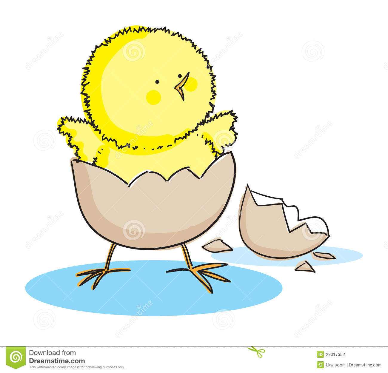 Hatching Easter Chick Stock Vector Illustration Of Bird