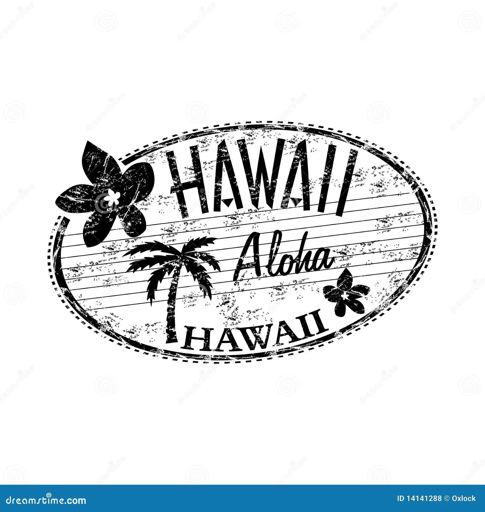 Hawaii Grunge Rubber Stamp Royalty Free Stock Photos