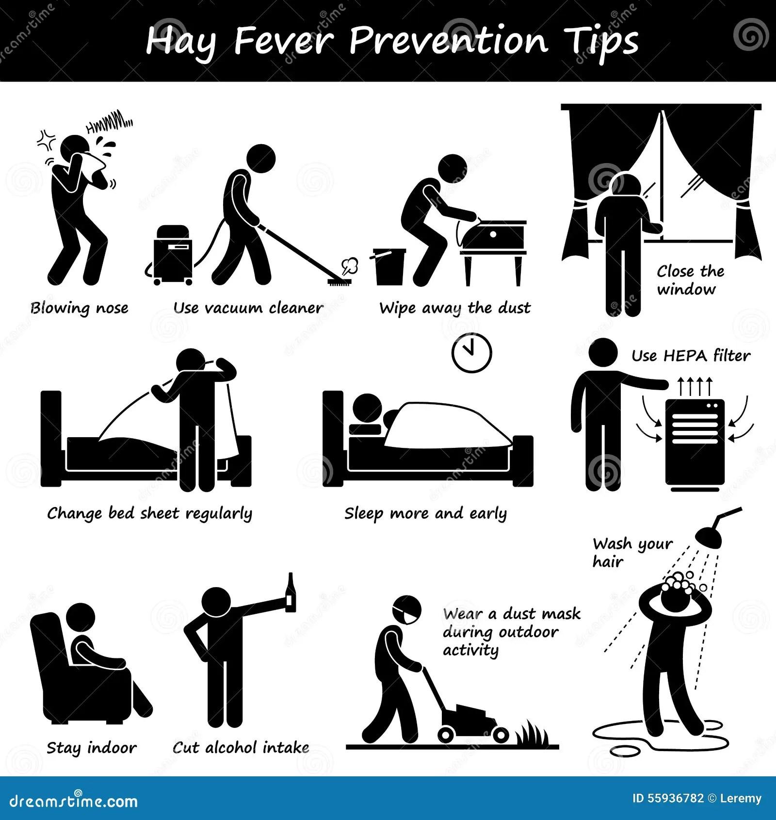 Hay Fever Prevention Allergy Tips Clipart Vektor Abbildung