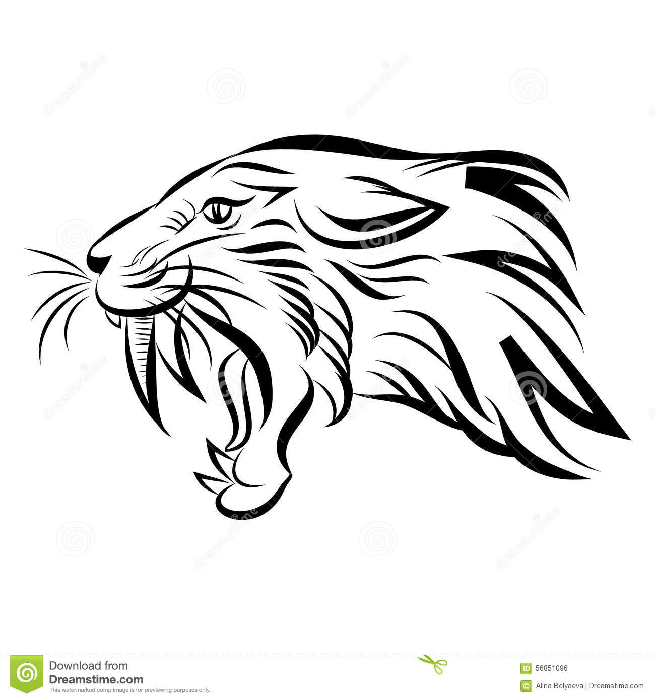 Head Of Saber Tooth Tiger