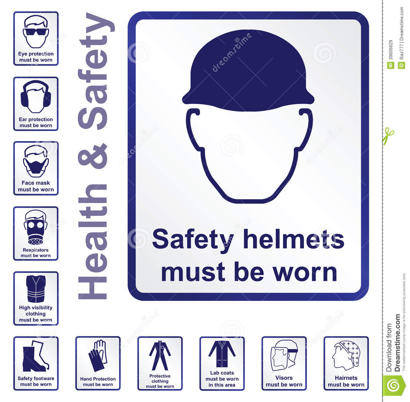 Health And Safety Signs Stock Vector Illustration Of