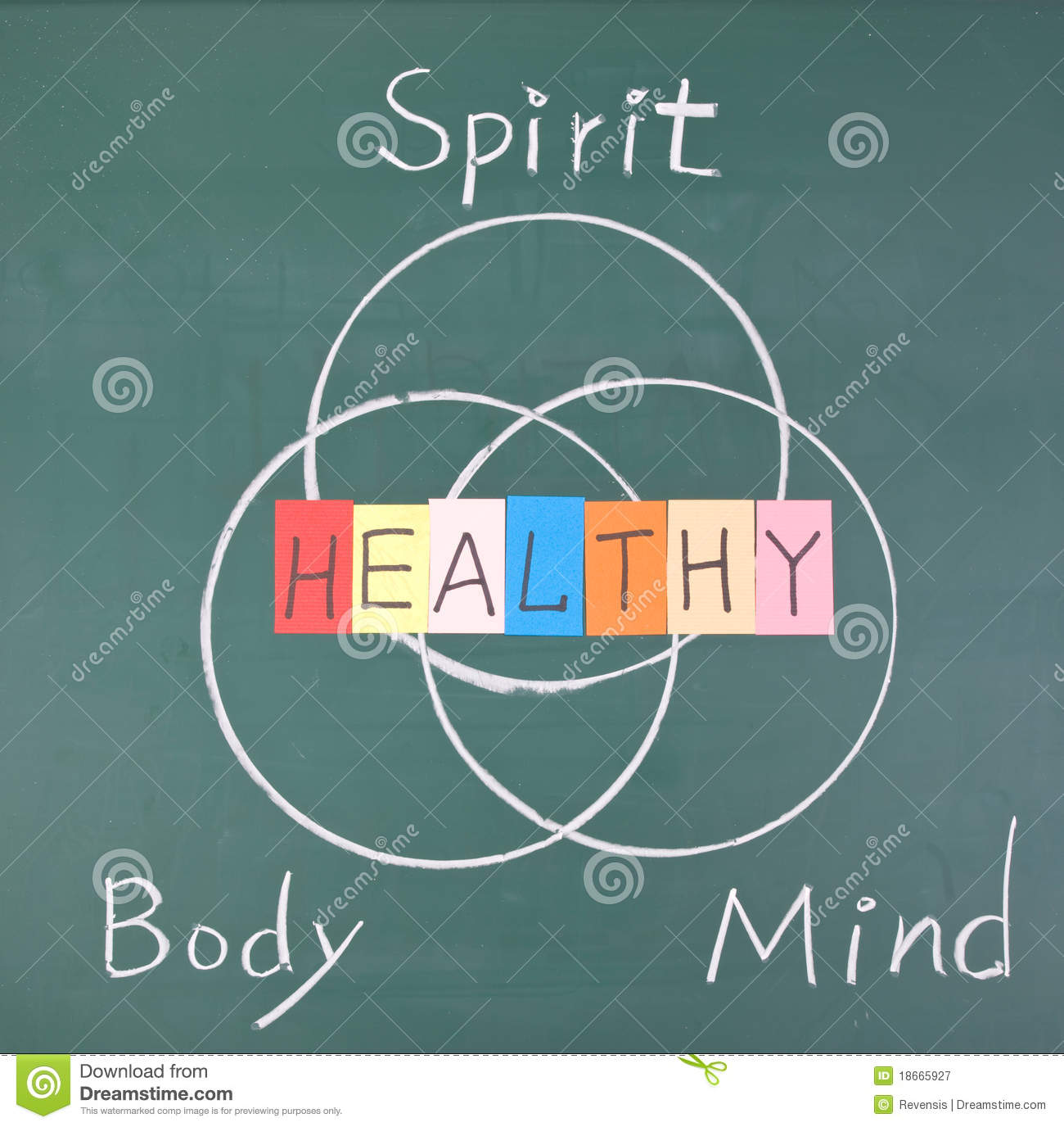 Healthy Concept Spirit Body And Mind Stock Image