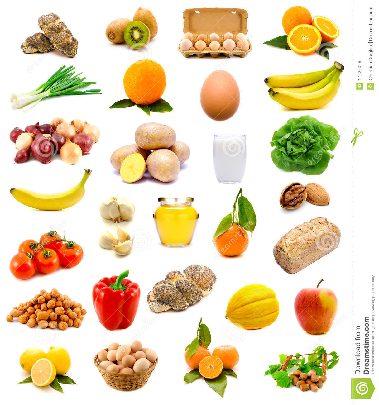 Healthy Food Fruits And Vegetables Stock Image
