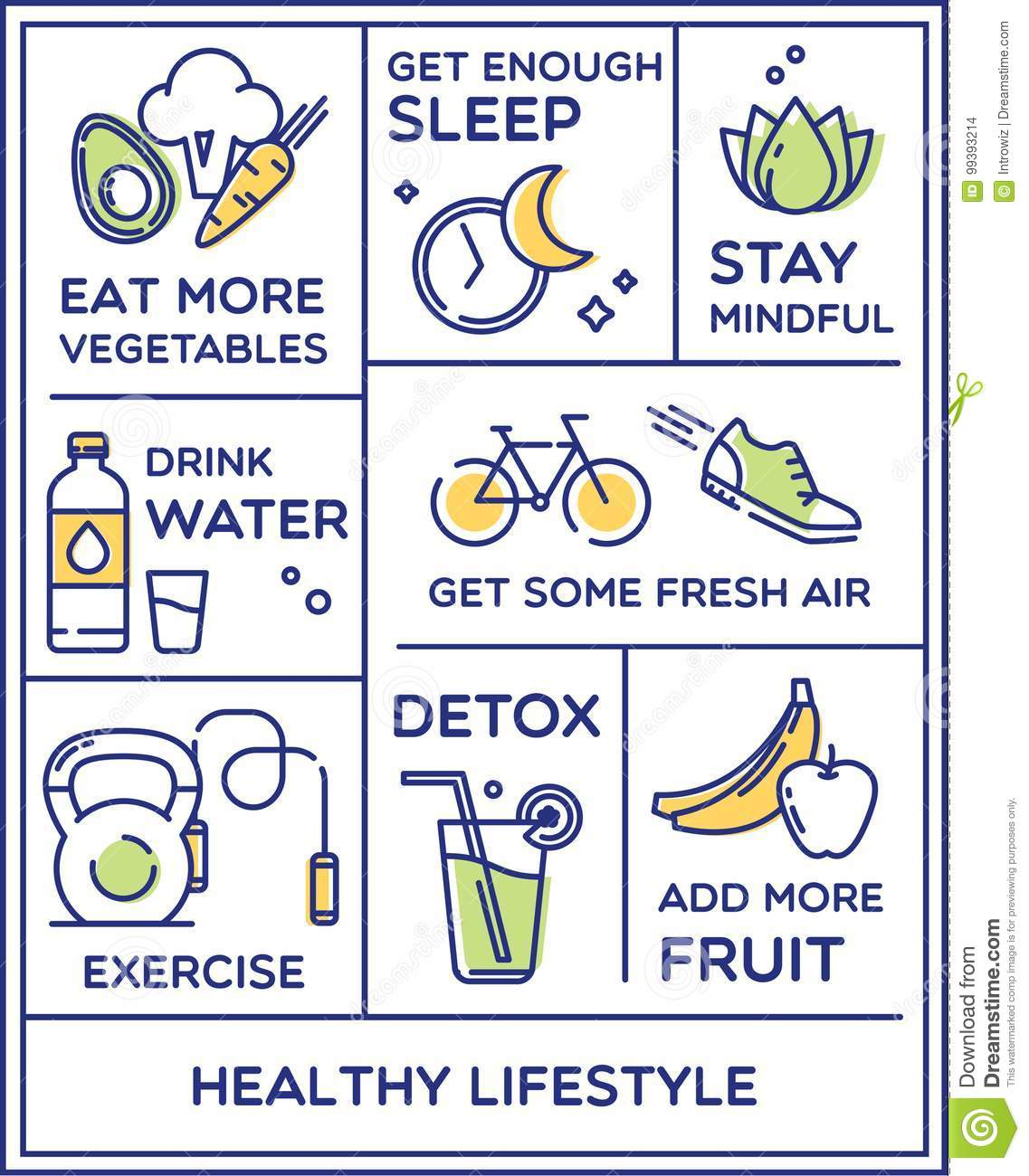 Healthy Lifestyle Poster Stock Vector Illustration Of