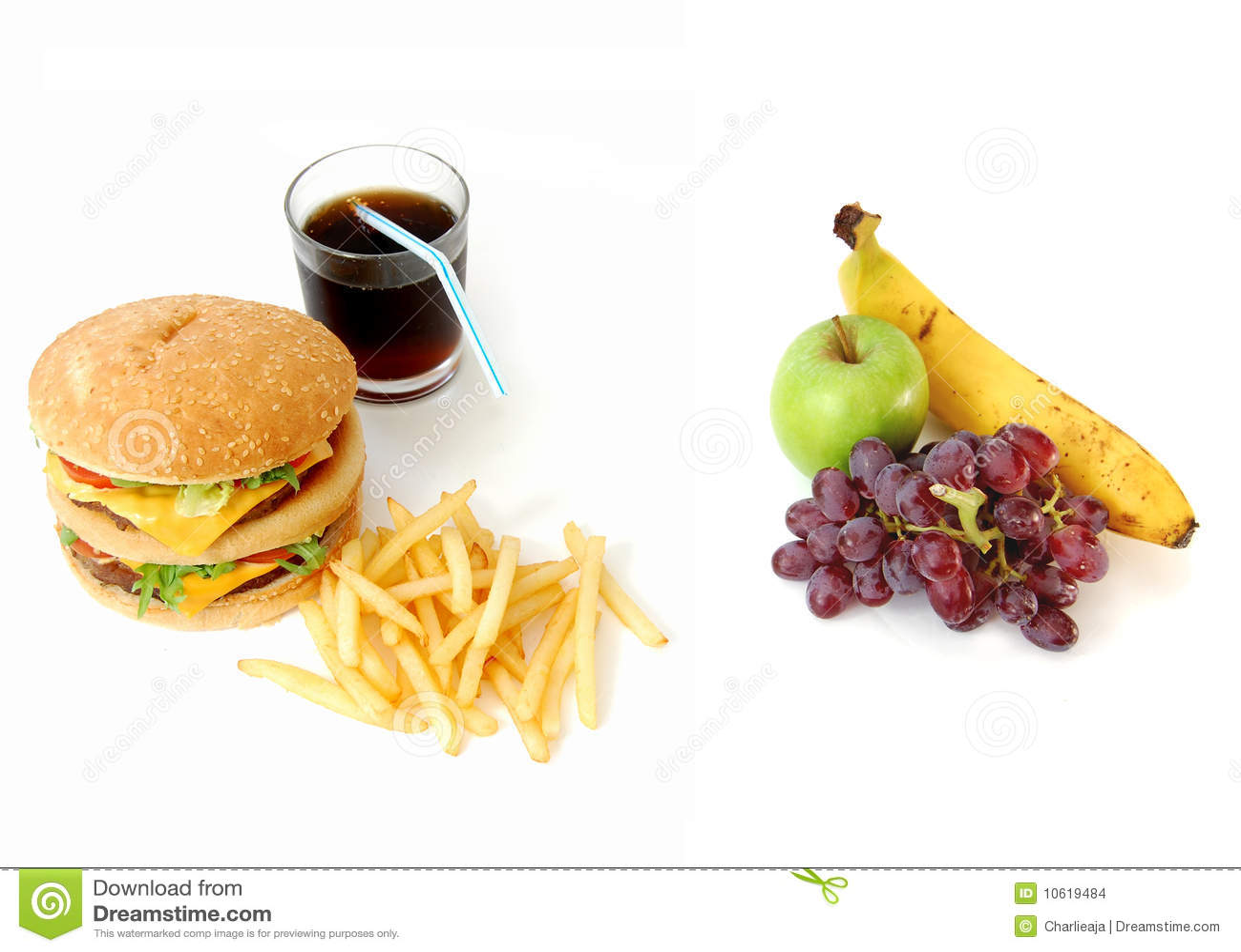 Healthy Or Unhealthy Food Stock Photo Image Of Coke