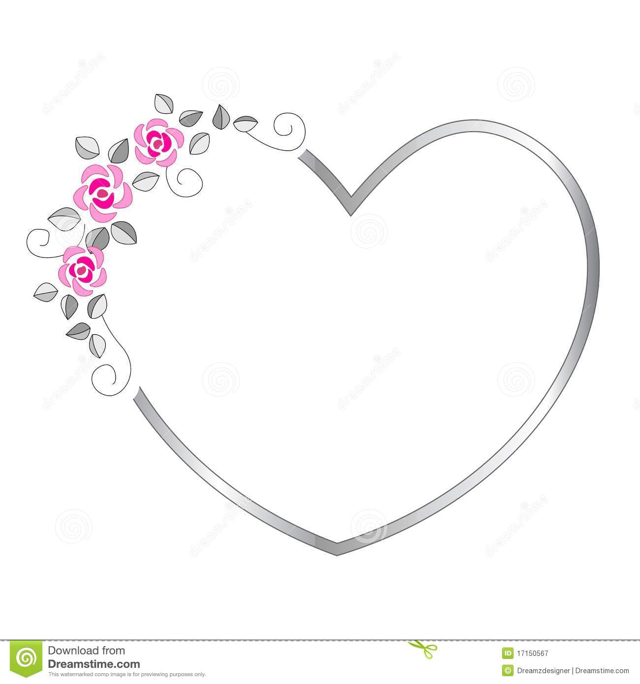 Heart Border Royalty Free Stock Photography